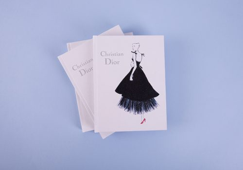 Модный блокнот Dior White
