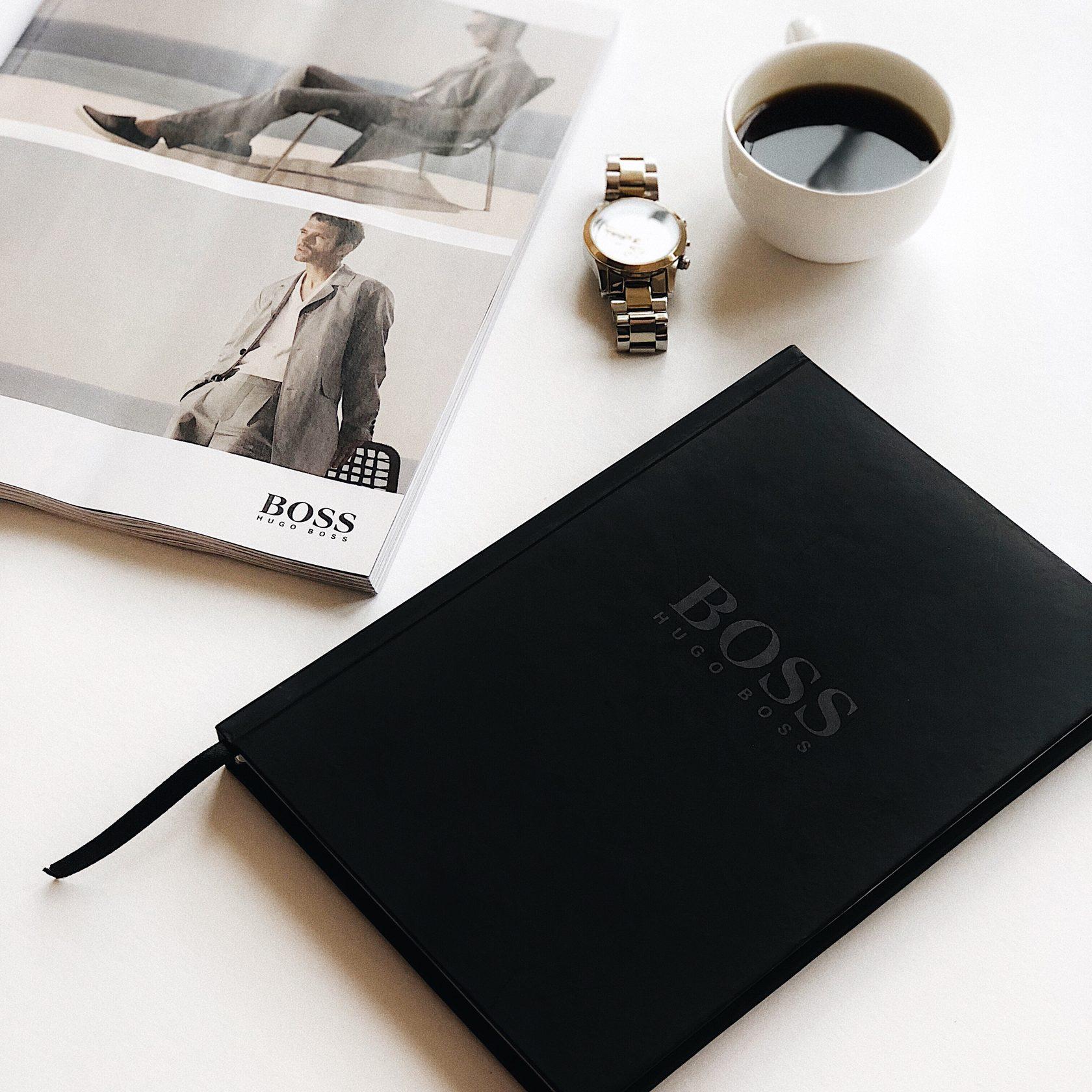 Мужской ежедневник чёрный Hugo Boss